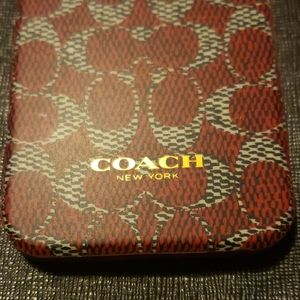 Red COACH phone case